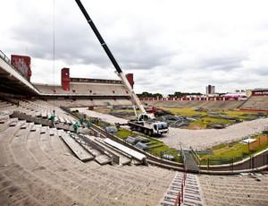 Obras da Arena da Baixada para a Copa do Mundo (Foto: Divulgação/Ministério dos Esportes/Portal da Copa)