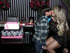 Andréa de Andrade recebe Bombom e David Brazil em festa de aniversário