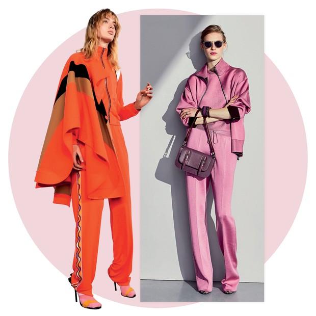 Emilio Pucci e Bottega Veneta (Foto: Tom Munro/Reprodução Vogue Itália P. 108 e Divulgação)