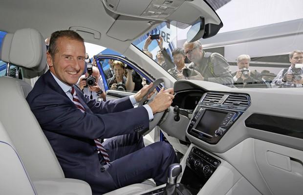 Herbert Diess, novo CEO da Volkswagen, no Salão de Frankfurt de 2015 (Foto: Divulgação)