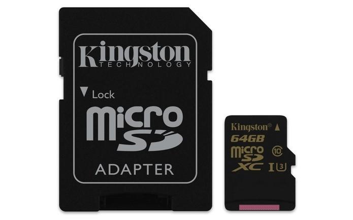 Cartões microSD da linha gold vêm com adaptador SD (Foto: Divulgação/Kingston)