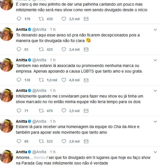 Posts de Anitta (Foto: Reprodução)