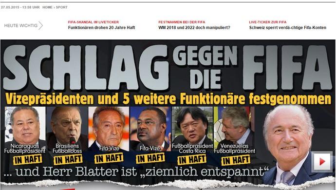 Reprodução Jornal Bild Alemanha escândalo FIFA (Foto: Editoria de Arte)