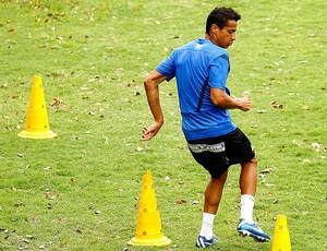 Cícero no treino do Santos (Foto: Ricardo Saibun / Divulgação Santos FC)