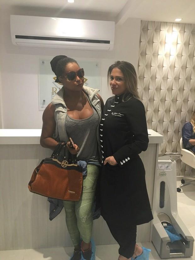 Adriana Bombom e Fabiana Nogueira (Foto: Arquivo pessoal)
