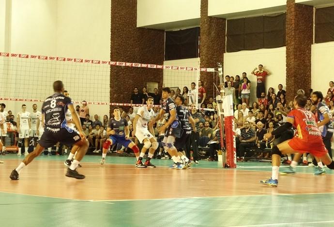 JF Vôlei, Taubaté Vôlei, Superliga Masculina de vôlei (Foto: Bruno Ribeiro)