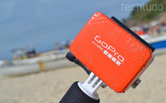 A Porta Traseira Floaty, com uma boia de flutuação, também é vendida separadamente (Foto: Melissa Cruz / TechTudo)