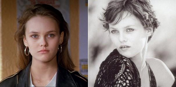 A atriz em seu primeiro filme 'Boda Branca' (1989) e dez anos depois em 'A Garota Sobre a Ponte' (1999) (Foto: Divulgação/Reprodução)