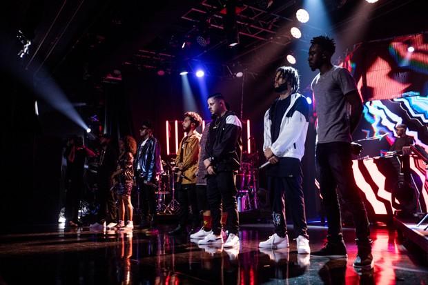 O DVD contou ainda com presença de rappers como Rashid, Muzzike e Coruja BC1 (Foto: José de Holanda)