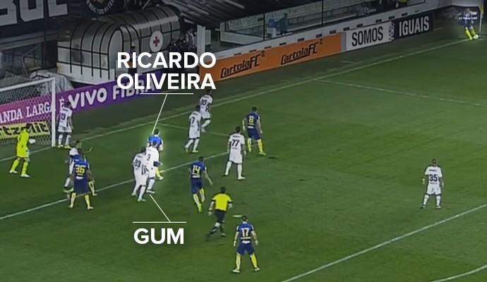 Posição Gum e Ricardo Oliveira (Foto: Reprodução )