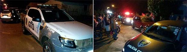Confronto aconteceu assim que a PM e os fugitivos chegaram a João Câmara, distante 75 quilômetros de Natal (Foto: Assis Silva)