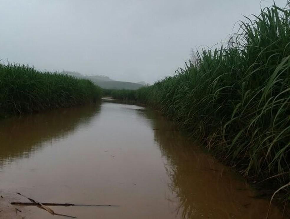 Estradas da Zona Rural ficaram alagadas na Zona da Mata de Pernambuco (Foto: TV Globo)