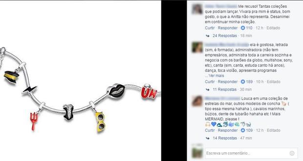 Comentários no post da loja Vivara (Foto: Reprodução/Facebook)