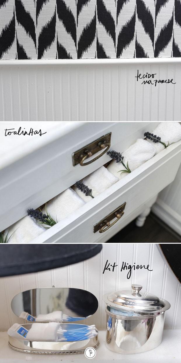 Como decorar o lavabo (Foto: fotos JULIO ACEVEDO | ARTE: KARE)
