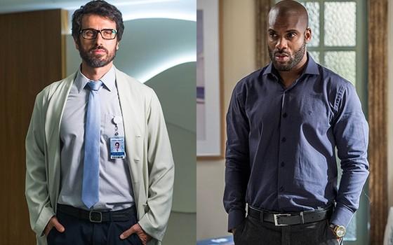 Eriberto Leão e Rafael Zulu: os atores vivem um caso de amor na TV (Foto: Rede Globo)