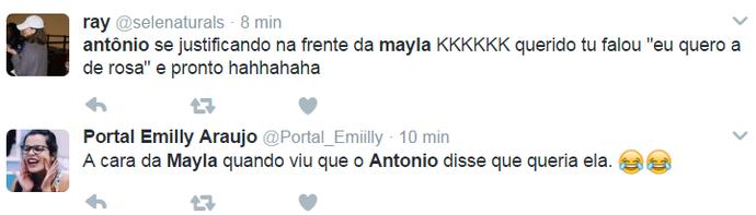 Internautas reagem a comentário de Antônio (Foto: Reprodução Internet)