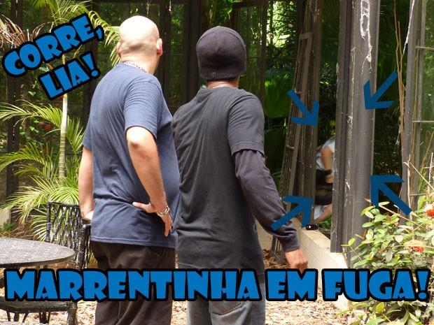 CORRE, MARRENTINHA! Será que a Lia vai conseguir fugir dos bandidos? (Foto: Malhação / Tv Globo)