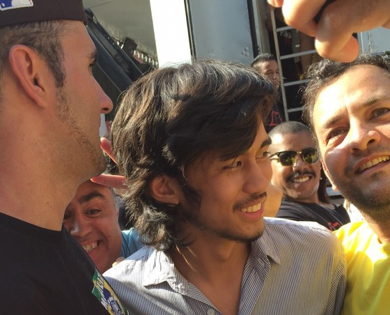 Kim Kataguiri, líder do Movimento Brasil Livre, na avenida Paulista, neste domingo (16) (Foto: Bruno Ferrari/ÉPOCA)