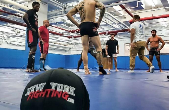 Erick Silva treinou na Renzo Gracie Academy, em Nova York (Foto: Divulgação/Arquivo Pessoal)