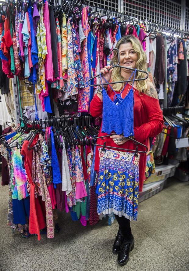 Alessandra Barrios com um look de Tancinha em Haja Coração (Foto: Globo/ João Miguel Júnior)