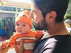 Jéssica Costa mostra Sandro Pedroso com o filho e se declara: 'Eu te amo'