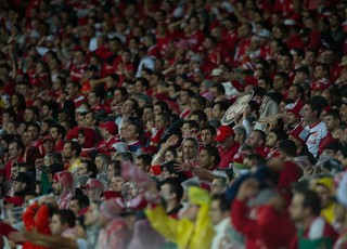 Torcida do Inter contra o Santa Fé (Foto: Alexandre Lops / Inter, DVG)