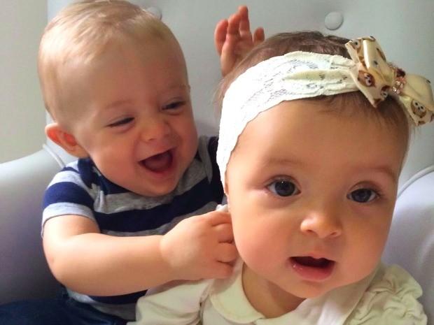 Vicenzo e Mariah têm um ano e sete meses (Foto: Paulo Roberto Pedroso/ Arquivo pessoal)