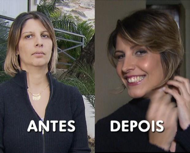 Karina ganhou um dia de beleza em SPA. Veja o antes e depois! (Foto: Mais Você/TV Globo)