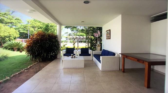 Área externa do lar do casal (Foto: TV Globo)