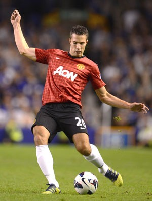 Van persie, Everton e MAnchester United (Foto: Getty Images)