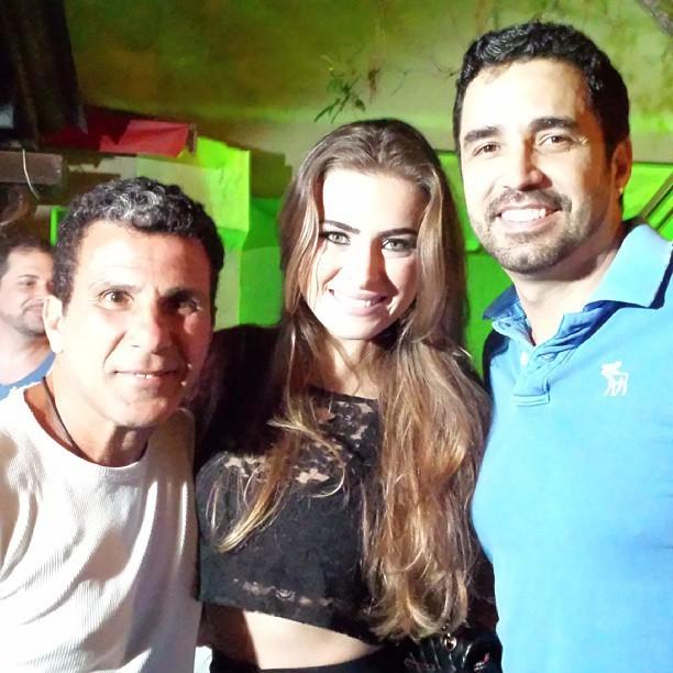 Eri Johnson, Rayanne Morais e Latino em festa no Rio (Foto: Instagram/ Reprodução)