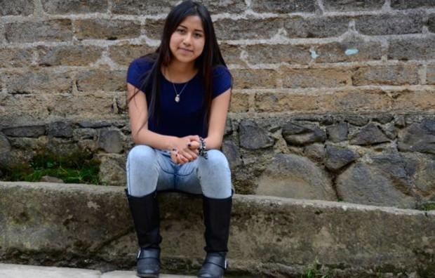 Melissa Fabian, estudante de 18 anos e moradora de Cheran  (Foto: BBC)
