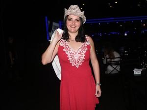 Jaqueline Garcia no show de Paula Fernandes em São Paulo (Foto: Iwi Onodera/EGO)