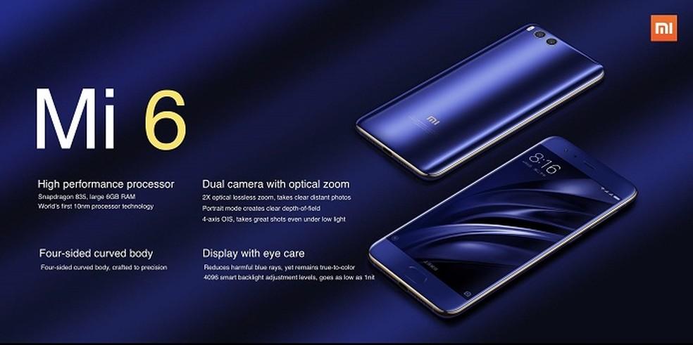 Xiaomi Mi 6 é o novo concorrente do iPhone 7 e Galaxy S8 (Foto: Divulgação/Xiaomi)