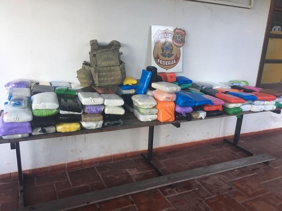Droga estava no setor de cargas de um navio que saiu de Manaus (Foto: Divulgação/Polícia Federal)