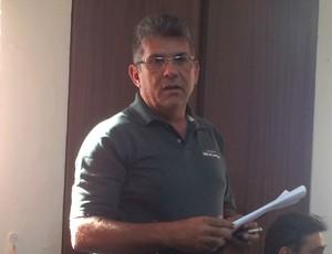 Andrey Valério, representante do Sindicato dos Atletas Profissionais do RN (Foto: Jocaff Souza/GloboEsporte.com)