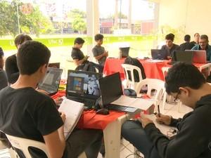Profissionais em tecnologia participam da 1ª Hackathon na Ufac de Rio Branco (Foto: Reprodução/Rede Amazônica Acre)