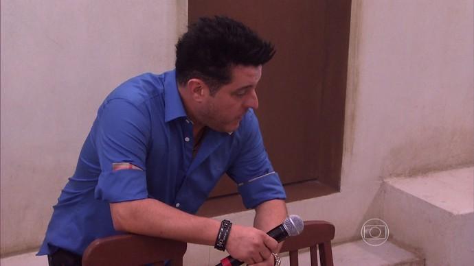 Marrone se emociona em 'De volta ao passado' (Foto: TV Globo)