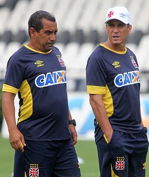 Jorginho e Zinho treino Vasco (Foto: Paulo Fernandes / vasco.com.br)
