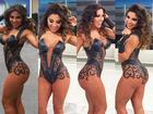 Andressa Ferreira posa com corpo pintado