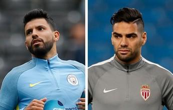Em busca de ressurgimento, Agüero e Falcao duelam em Man. City x Monaco