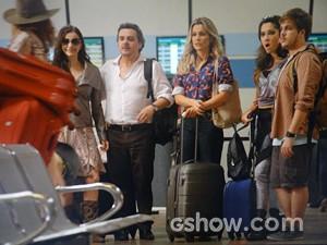 Galera em peso emcarca para Tapiré (Foto: Além do Horizonte/TV Globo)