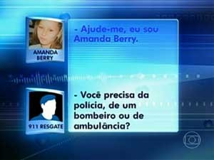 áudio Amanda Berry (Foto: TV Globo)