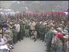 Venezuelanos fazem treinamento contra suposta invasão estrangeira