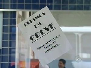 Funcionários do HR anunciam greve nesta quinta-feira (20). (Foto: Reprodução TV TEM)