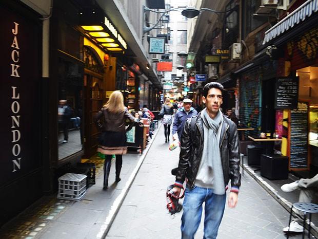Roberto Seba em Melbourne (Foto: Arquivo pessoal/Roberto Seba)