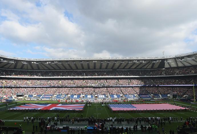Los Angeles Rams e New York Giants se enfrentaram na NFL no estádio de Twickenham, em Londres (Foto: Getty Images)
