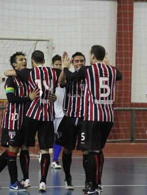 São Paulo/Suzano Futsal (Foto: Thiago Fidelix)