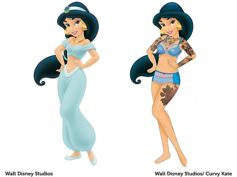 Jasmine, de Aladdin', reimaginada pela Curvy Kate (Foto: Divulgação)