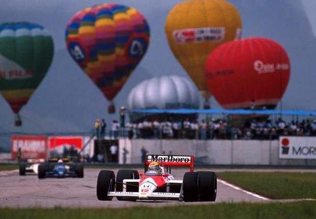 Senna no GP do Brasil de 1989 (Foto: Divulgação)